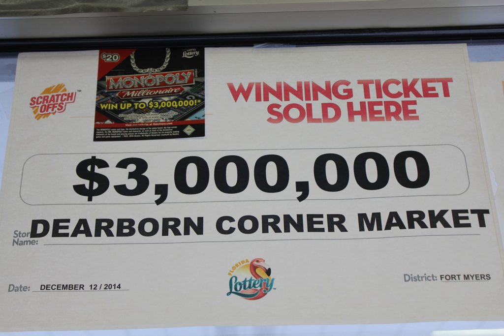 $3,000,000 winning lottery ticket sold here