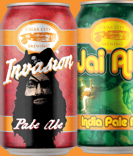 Invasion Jai Alai Beer Cans